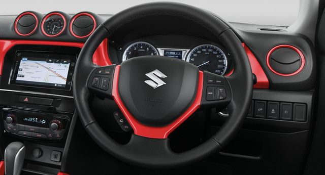 Steering Wheel Garnish - Bright Red