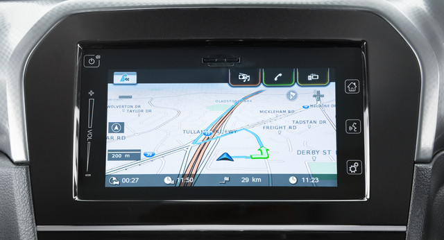 Suzuki Vitara Satellite Navigation Screen